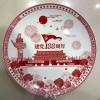 礼品陶瓷纪念赏盘定做加字,公司成立100年庆典活动纪念盘