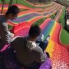 景区游乐亲子双人七彩滑道 户外游乐设施彩虹滑道