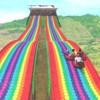七彩滑道生产厂家 户外景区旱地滑道小型彩虹滑道
