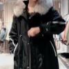 冬季防寒服货源 皮草内胆 大毛领派克服 品牌女装尾货批发
